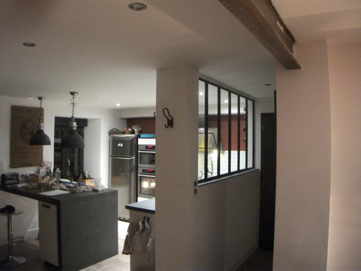 Separation de cuisine en verre fashion designs - Separation en verre cuisine salon ...
